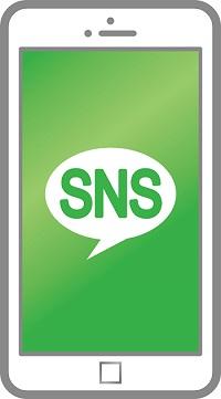 SNSスマホの表示画面