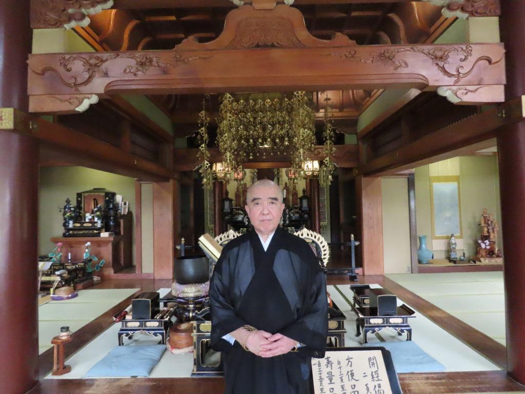 仙寿院ご住職本堂にて